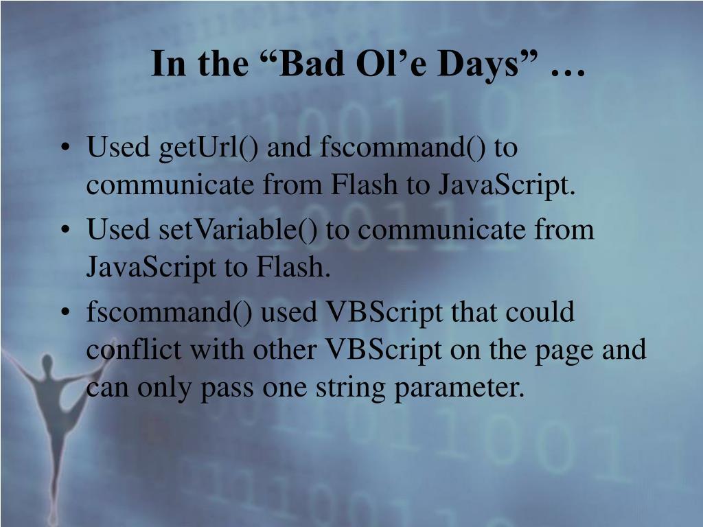 "In the ""Bad Ol'e Days"" …"