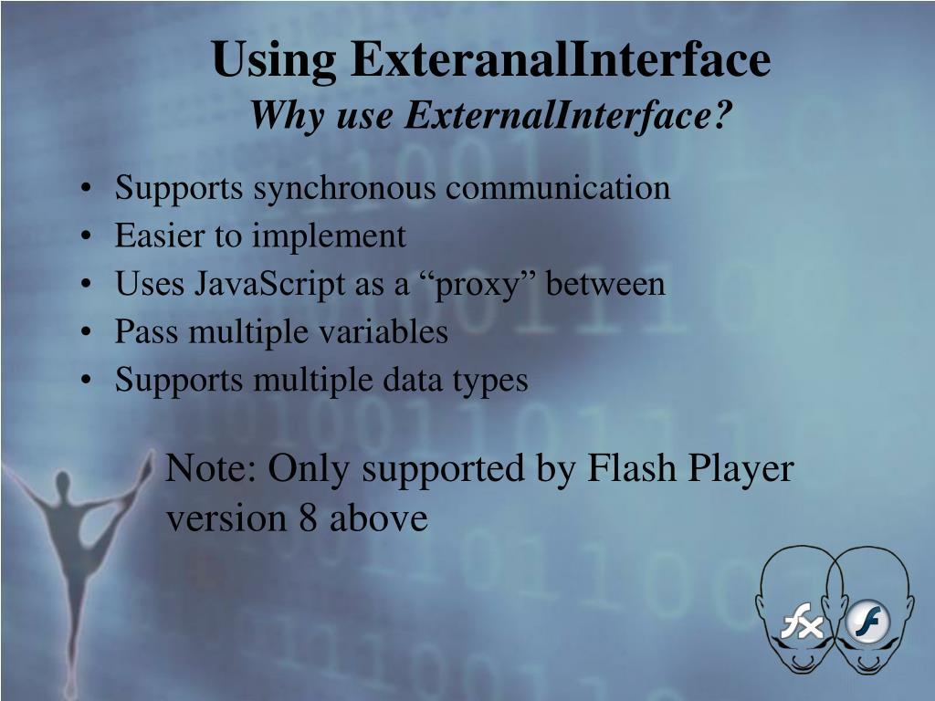 Using ExteranalInterface