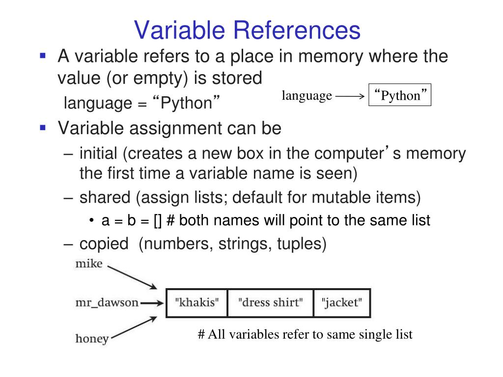 python give adaptable from reference