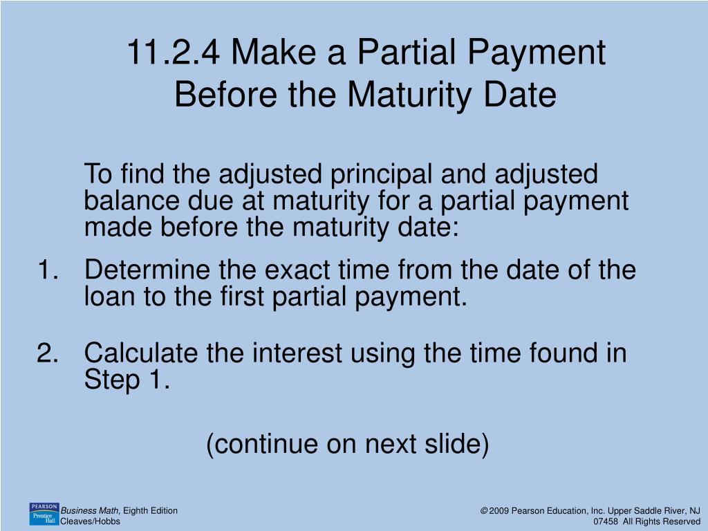Maturity Date On A Loan