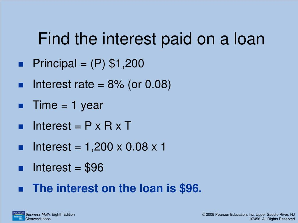 How To Find The Maturity Value Of A Loan