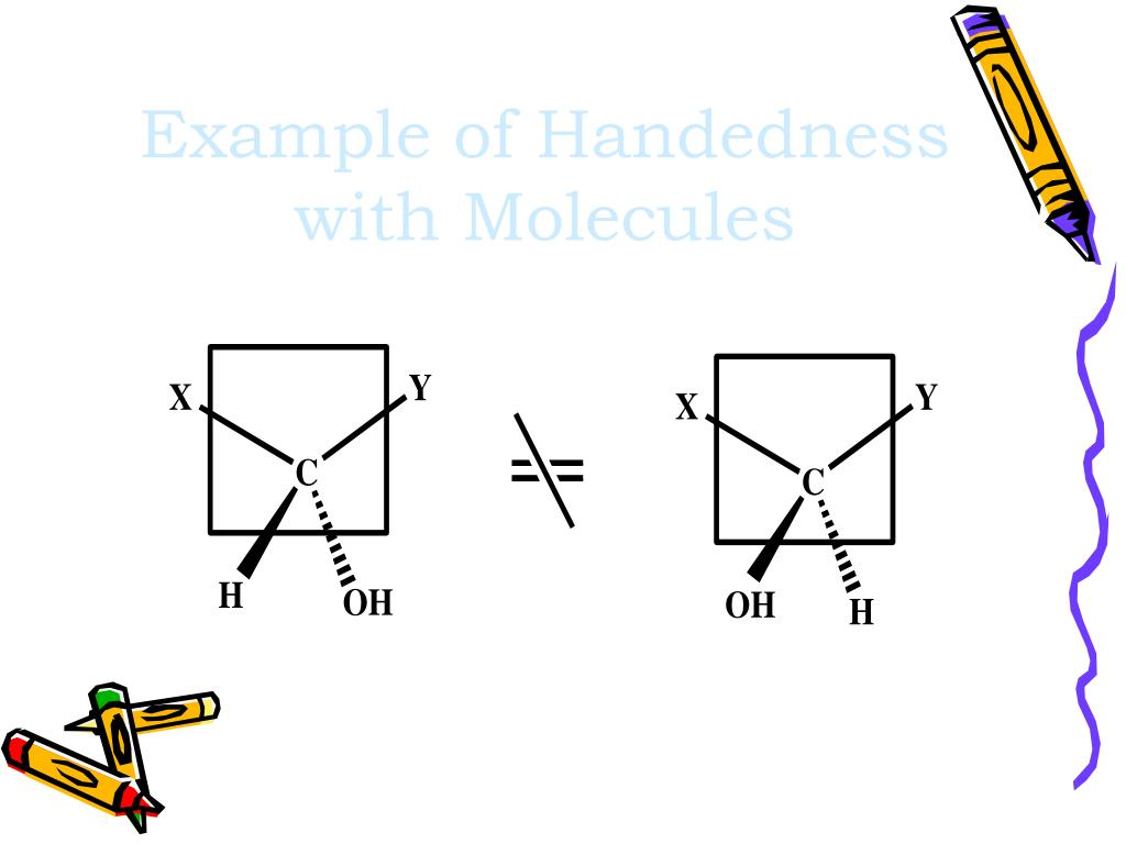 Example of Handedness with Molecules