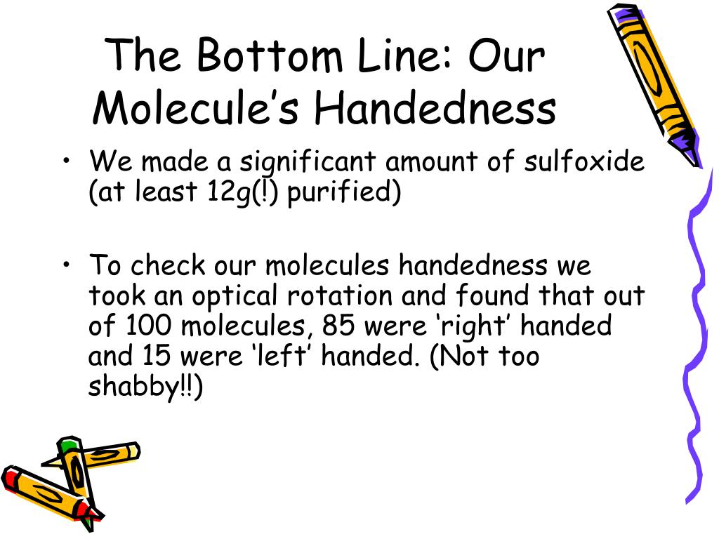 The Bottom Line: Our Molecule's Handedness