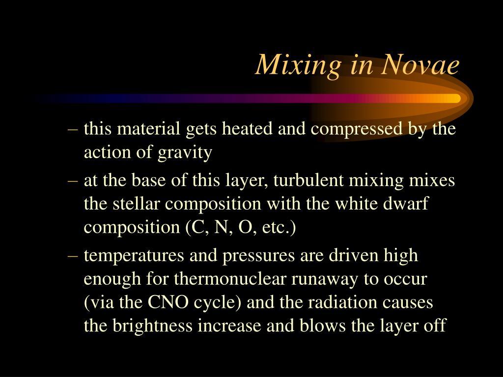 Mixing in Novae