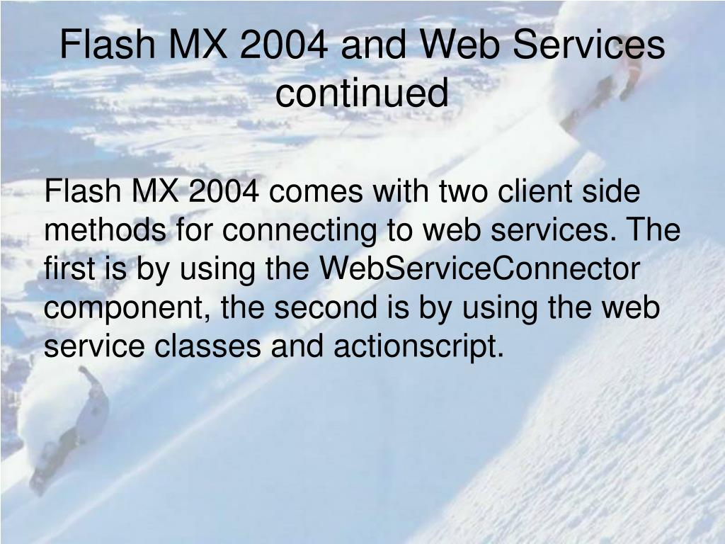 Flash MX 2004 and Web Services continued