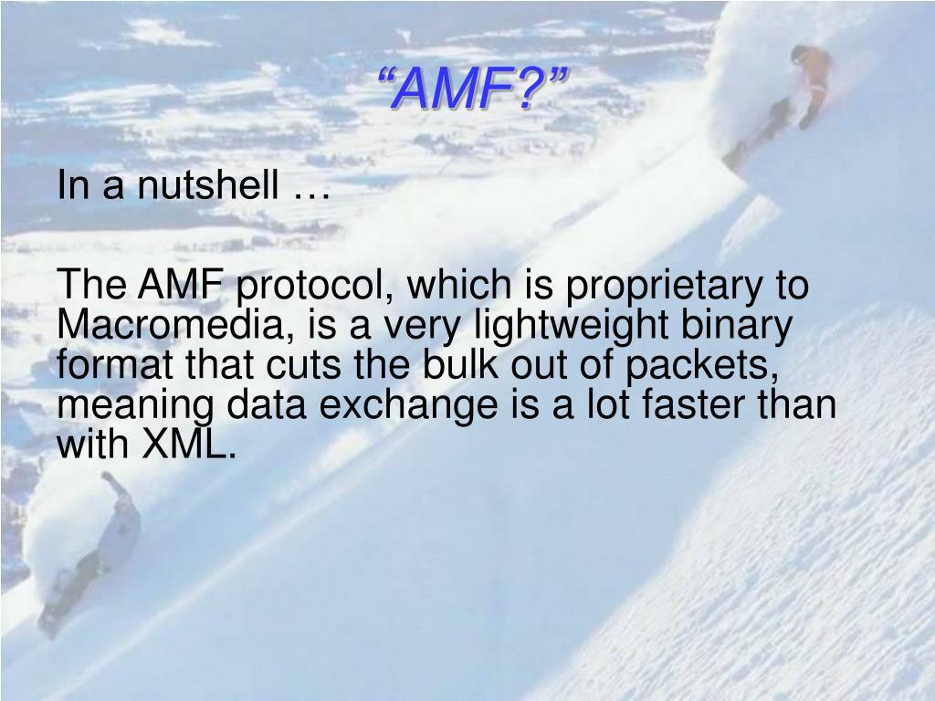"""AMF?"""