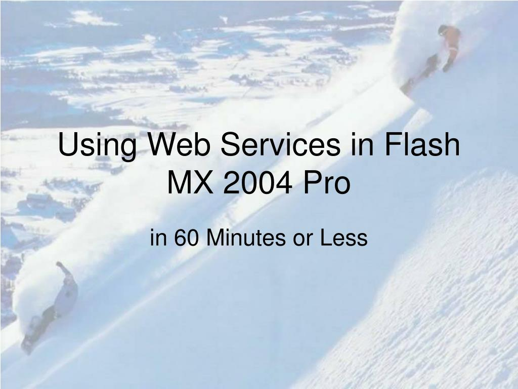 Using Web Services in Flash MX 2004 Pro