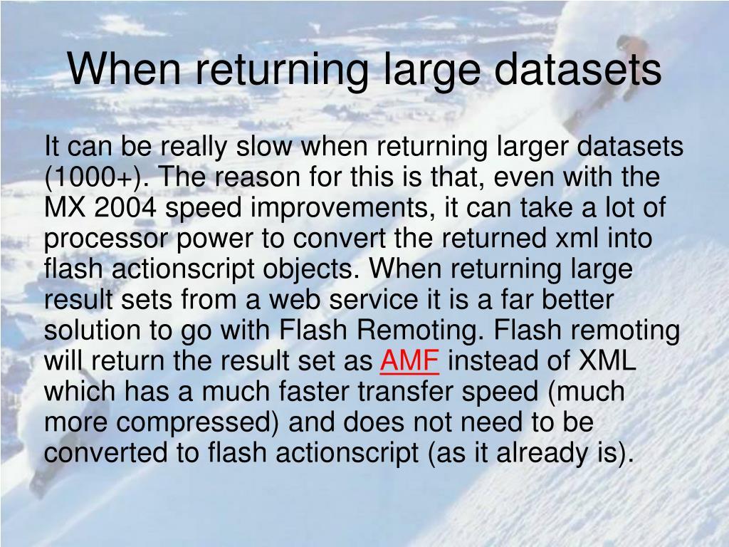 When returning large datasets