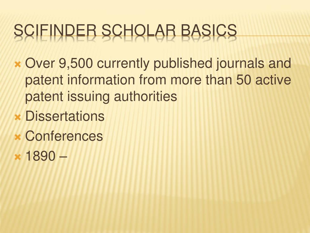 Over 9,500 currently published journals and patent information from more than 50 active patent issuing authorities