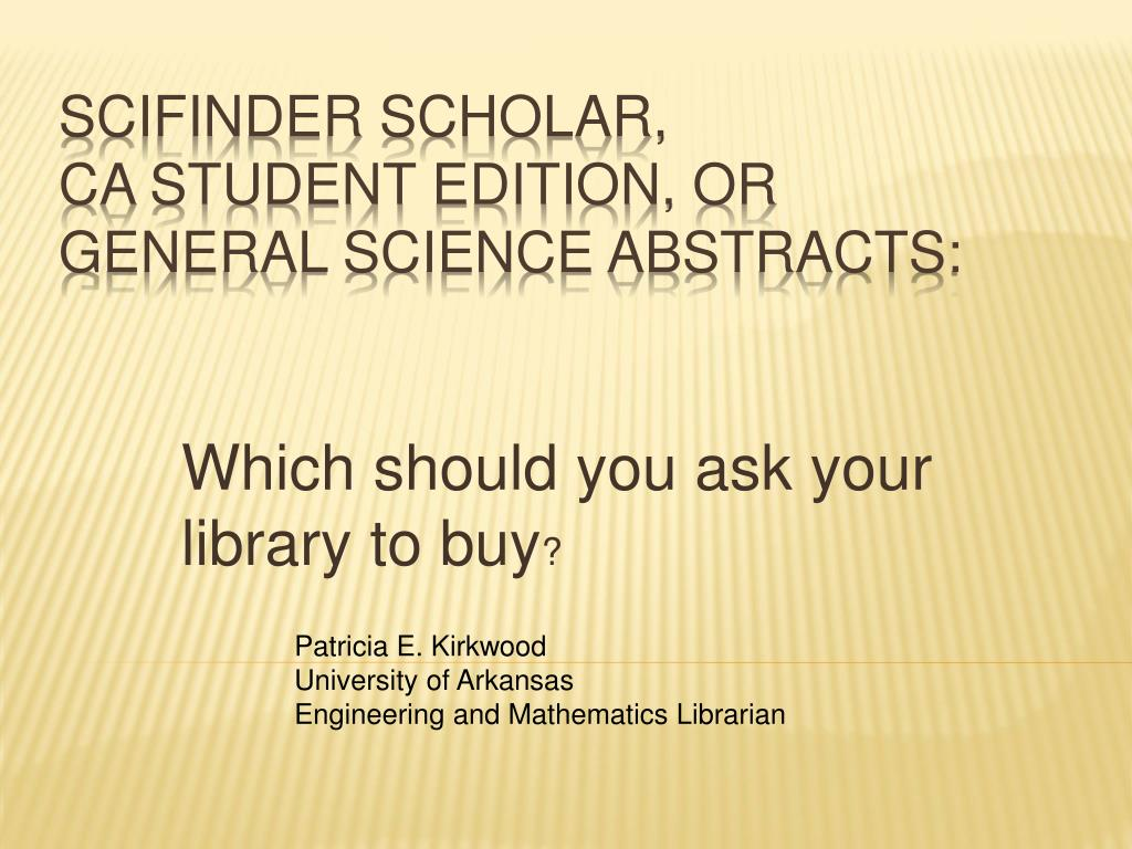Which should you ask your library to buy