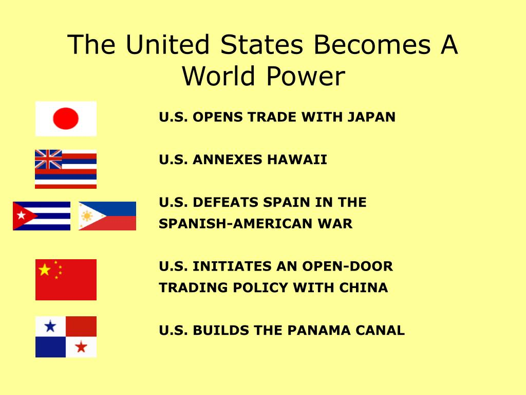 an overview of the power of the united states in the world Alone among the world's powers in 1945, the united states was not only functional but thriving the geopolitics of the united states, part 1: the inevitable empire.