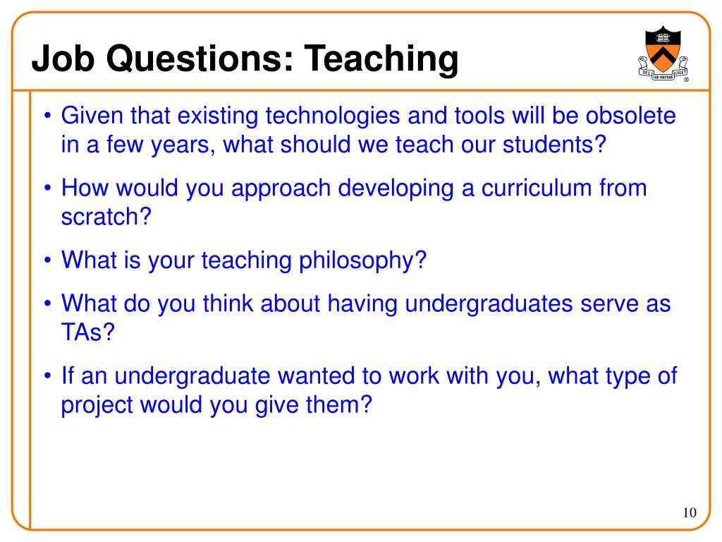 Job Questions: Teaching