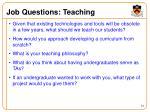 job questions teaching