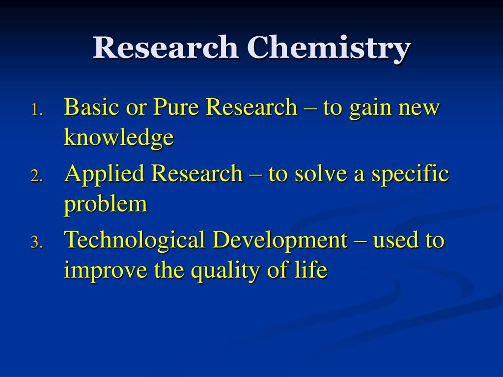 Research Chemistry