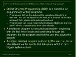 q4 how do businesses use the rad process object oriented programming