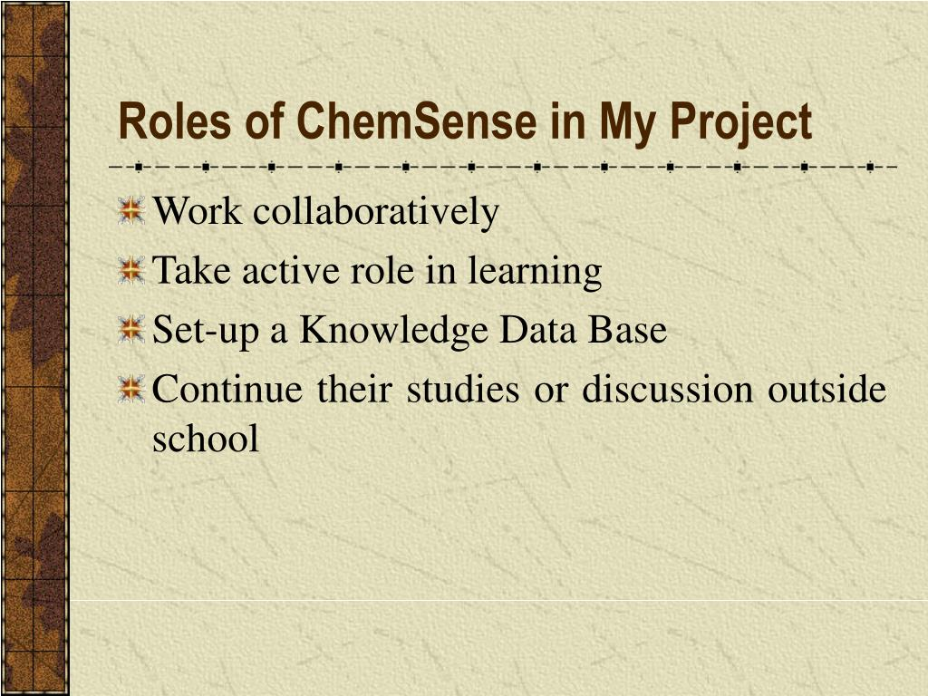 Roles of ChemSense in My Project