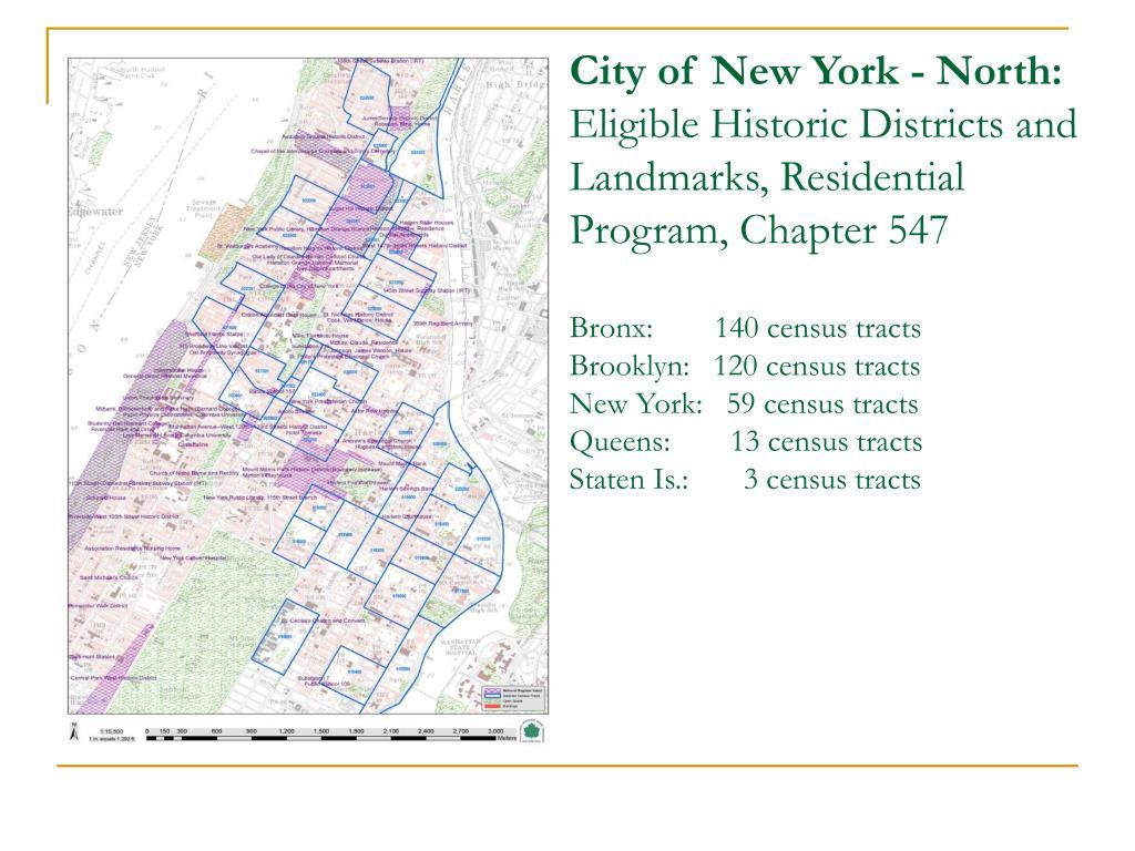 City of New York - North:
