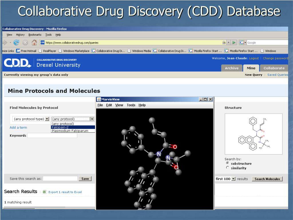 Collaborative Drug Discovery (CDD) Database