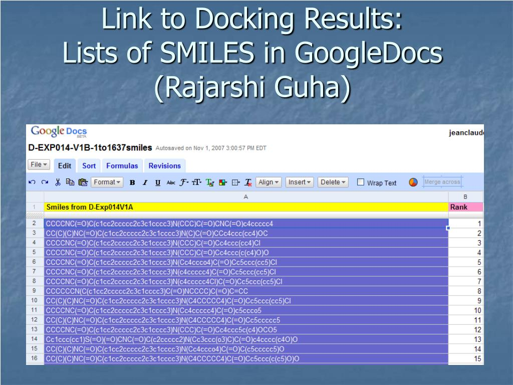 Link to Docking Results: