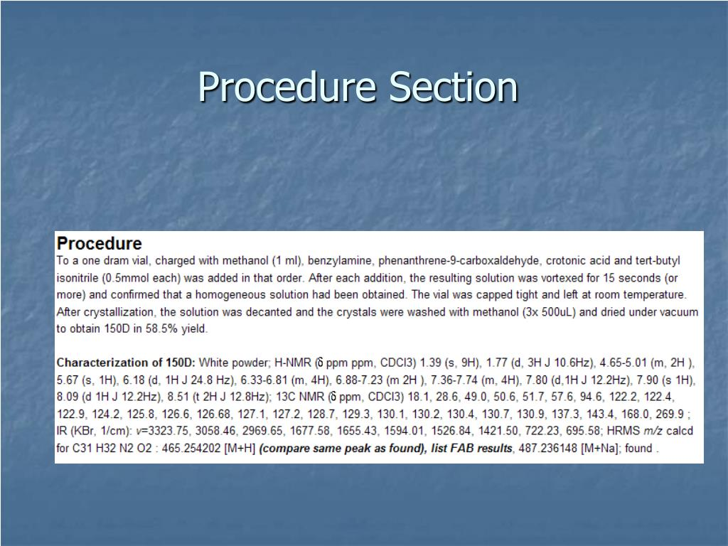Procedure Section