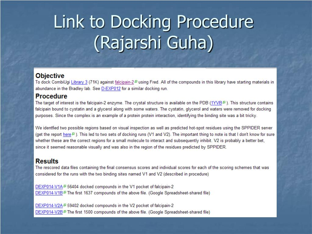 Link to Docking Procedure