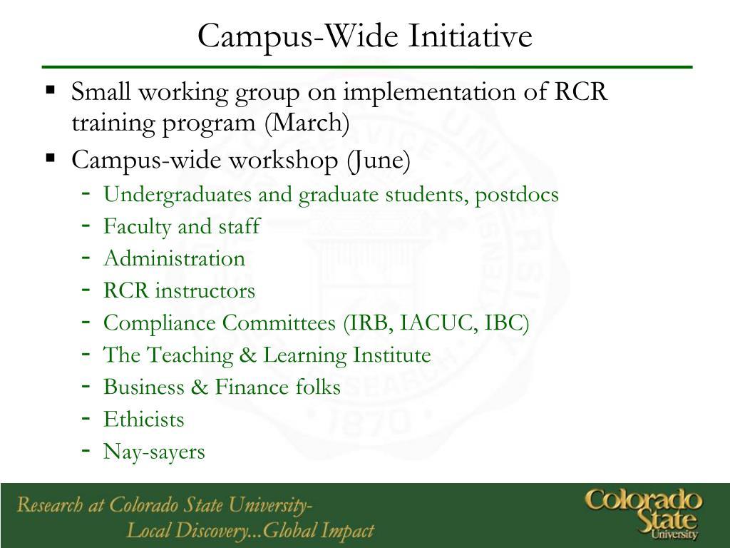 Campus-Wide Initiative