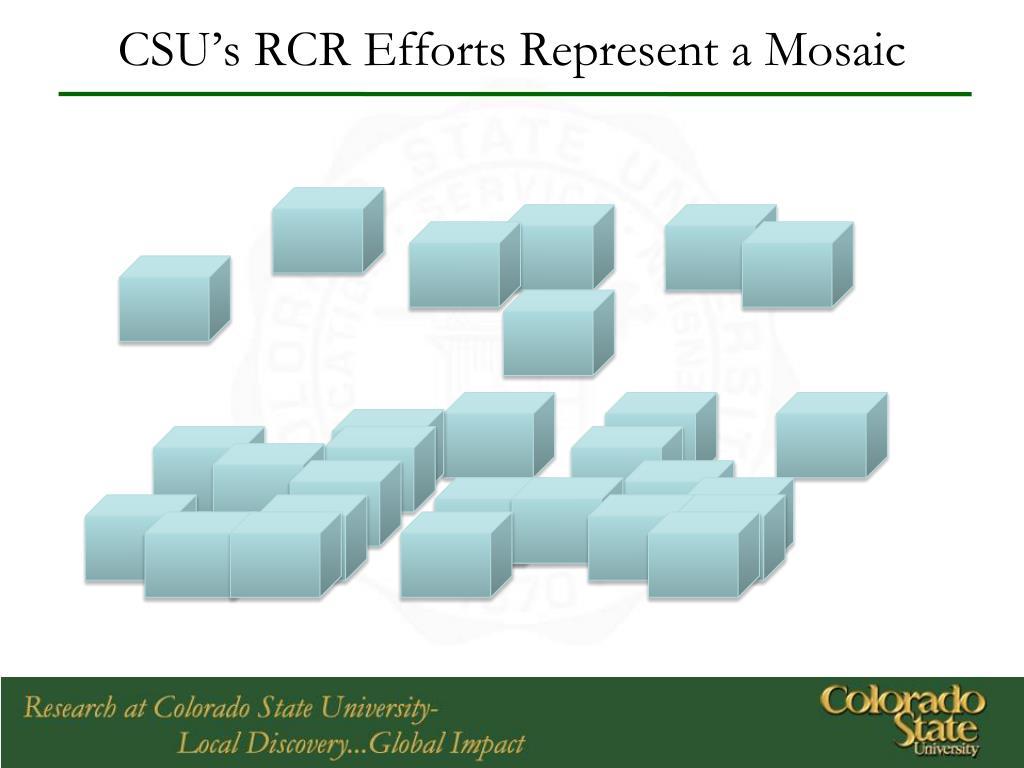 CSU's RCR Efforts Represent a Mosaic