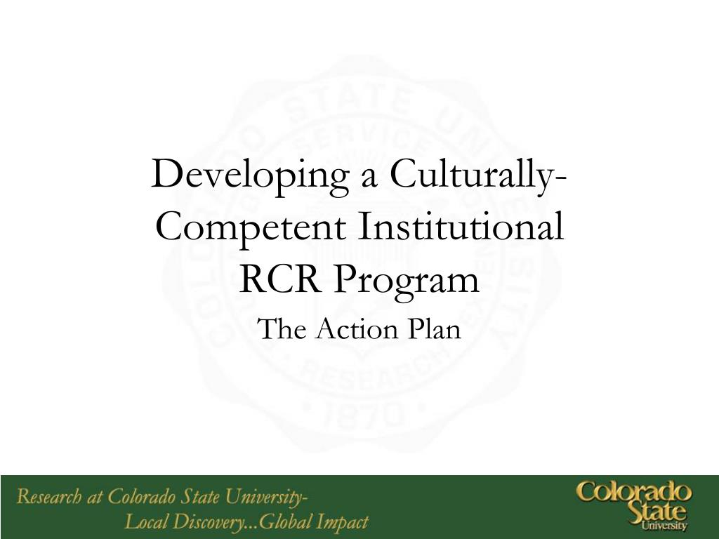 Developing a Culturally-Competent Institutional