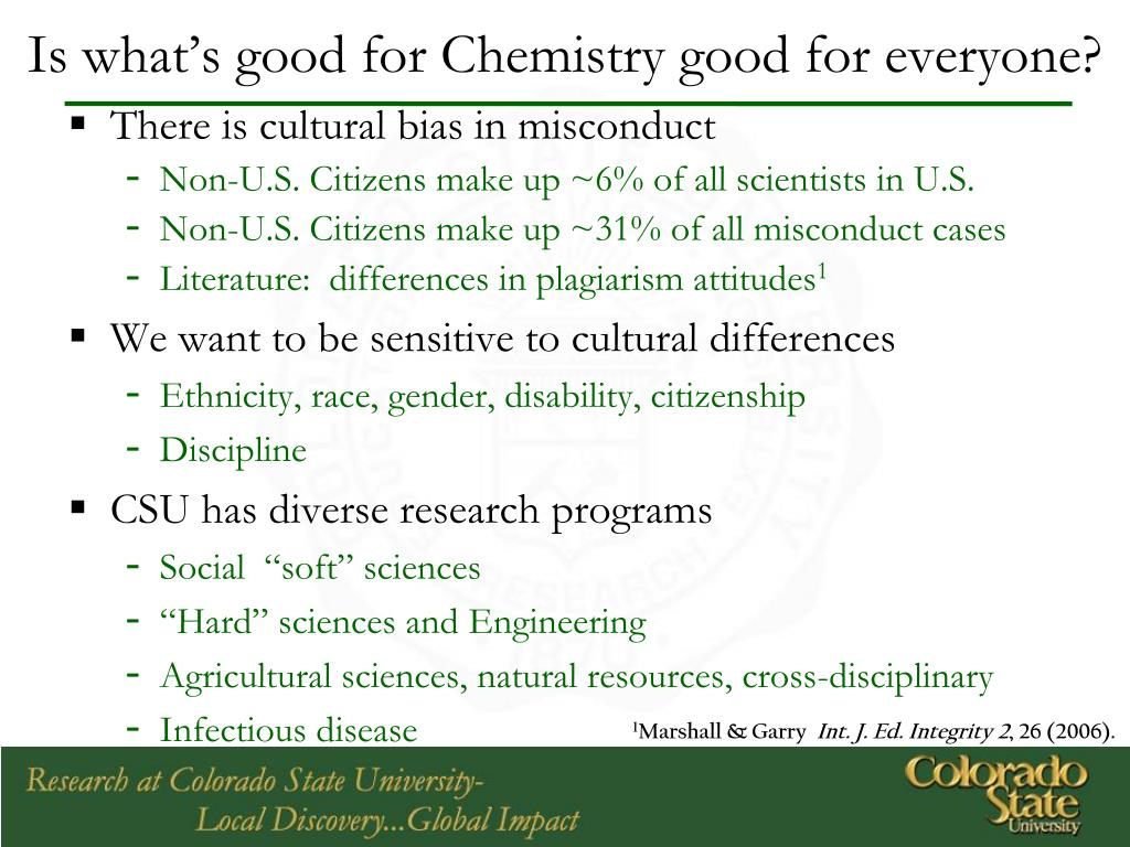 Is what's good for Chemistry good for everyone?