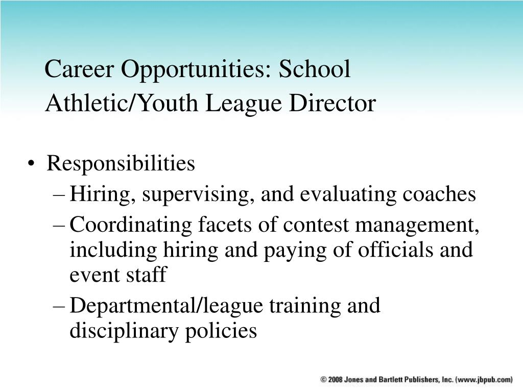 Career Opportunities: School Athletic/Youth League Director