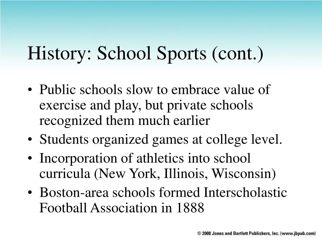History: School Sports (cont.)