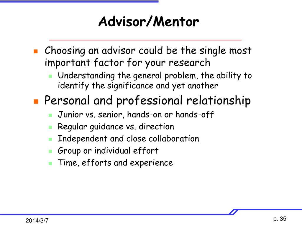 Advisor/Mentor