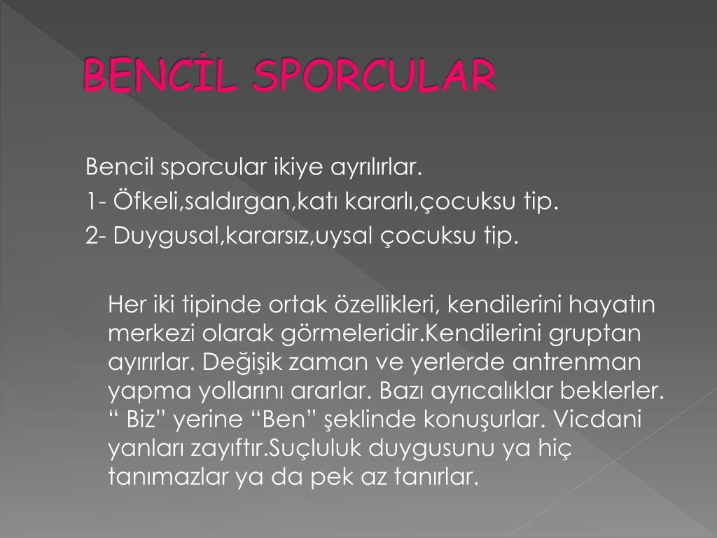 BENCİL SPORCULAR