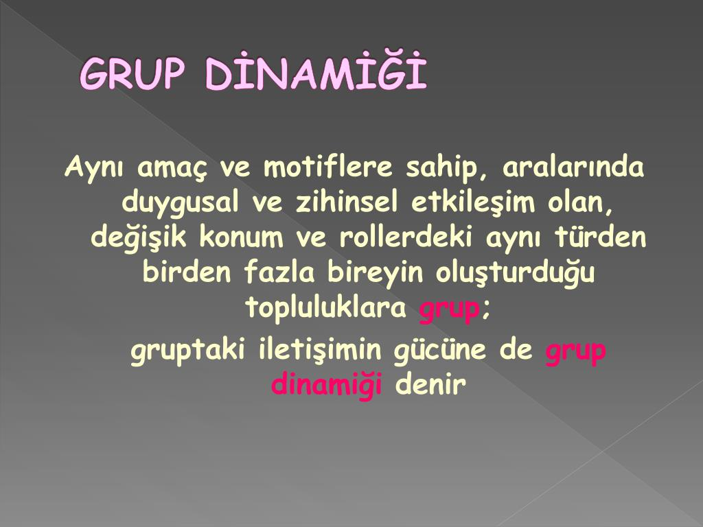GRUP DİNAMİĞİ