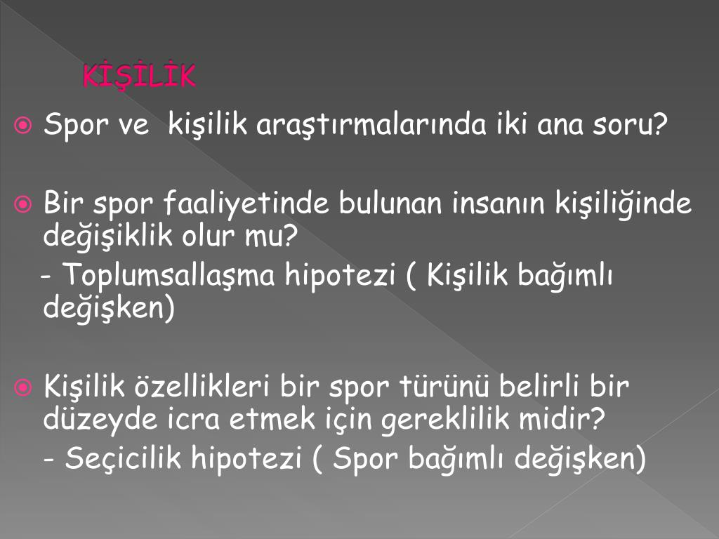 KİŞİLİK