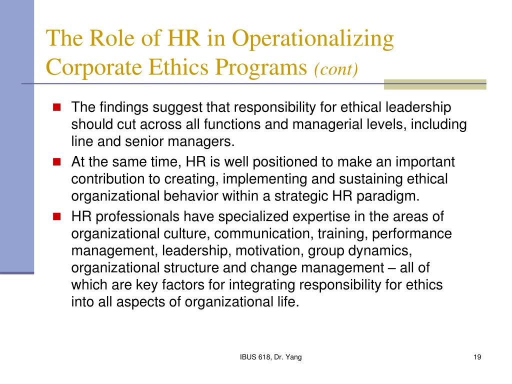 the role of ethics in business Some studies have focused on attitudes of business professionals towards  ethical situations while others have examined how college students view the role  of.