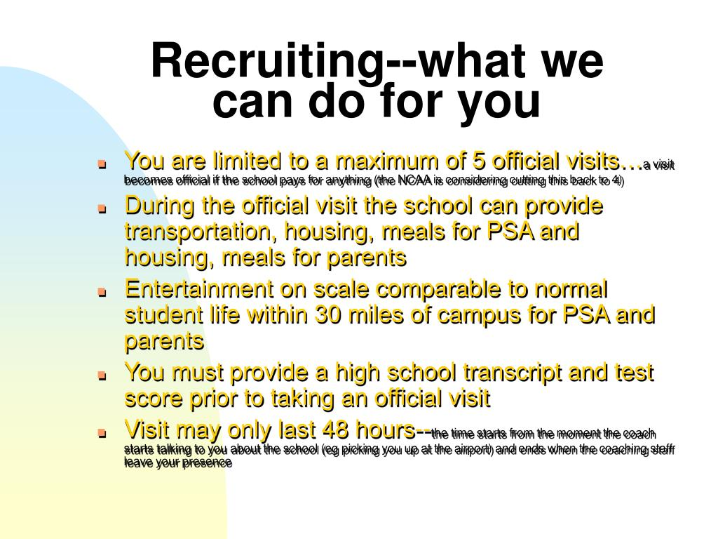 Recruiting--what we can do for you