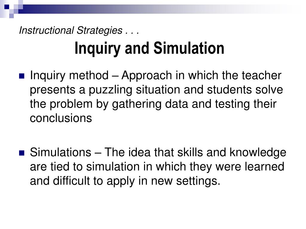 Instructional Strategies . . .