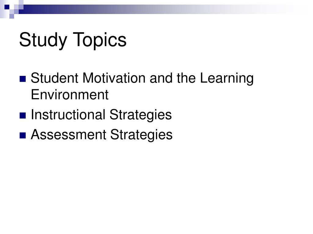 Study Topics
