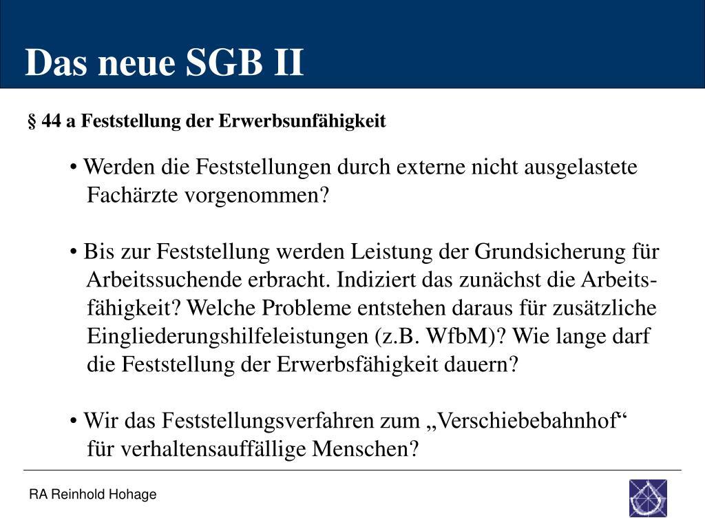 Das neue SGB II