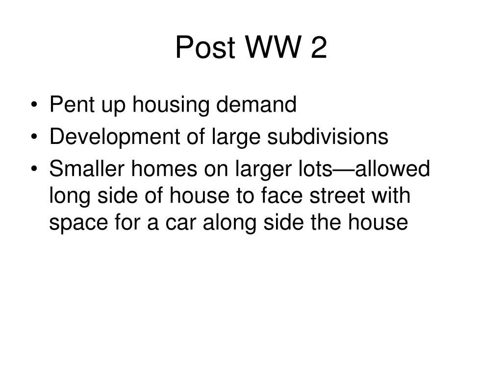 Post WW 2
