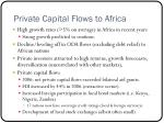 private capital flows to africa