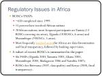 regulatory issues in africa12