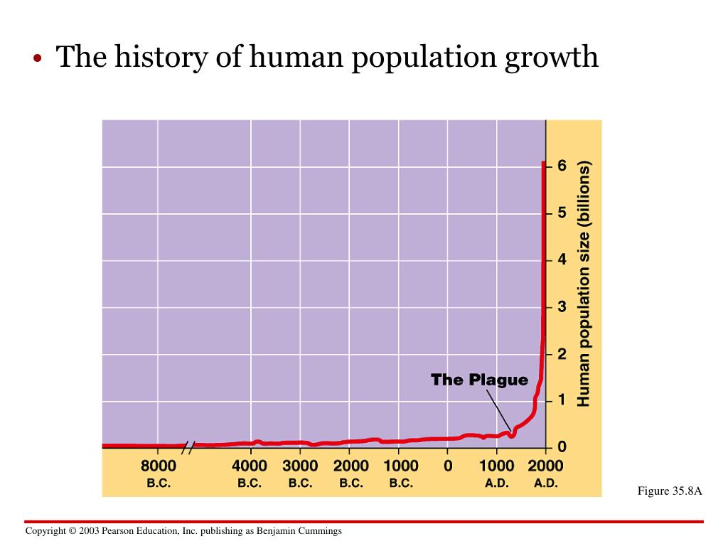 The history of human population growth