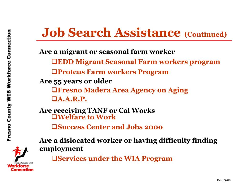 Job Search Assistance