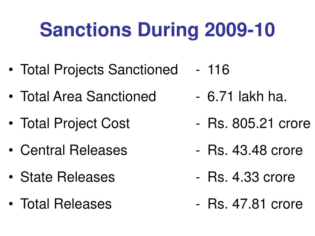 Sanctions During 2009-10