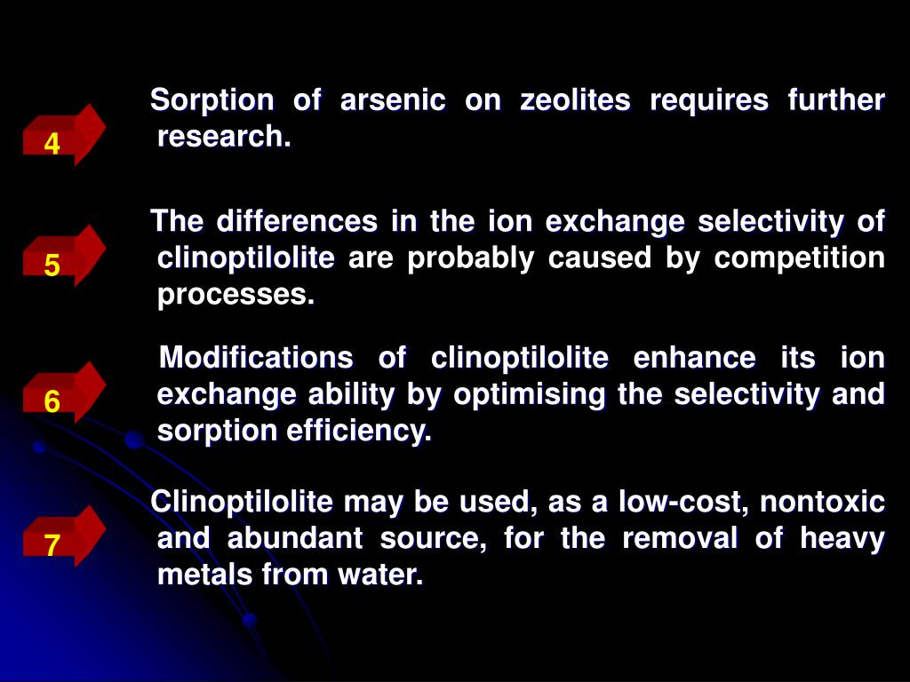 The differences in the ion exchange selectivity of clinoptilolite