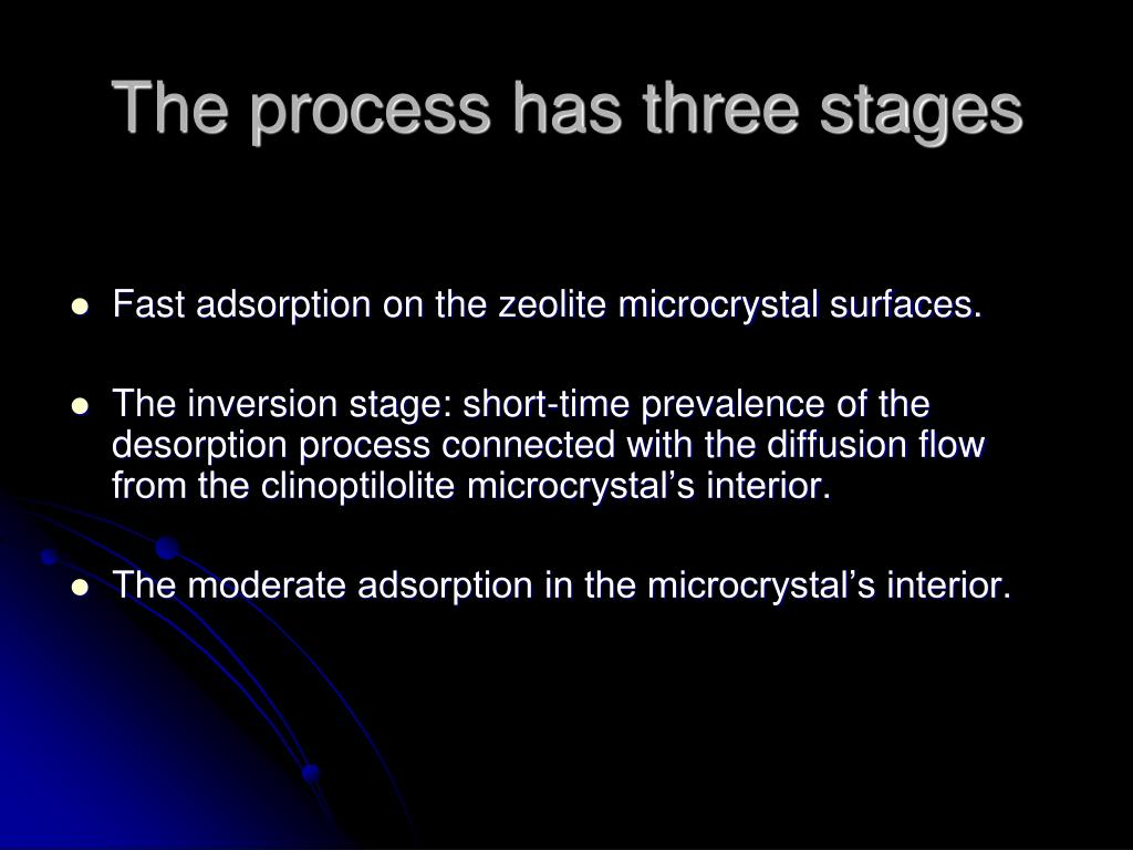 The process has three stages