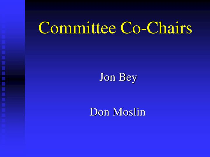 Committee co chairs