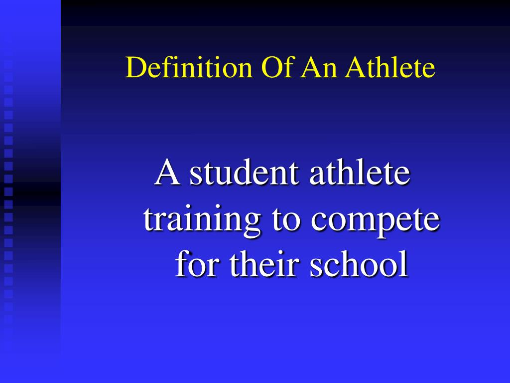 Definition Of An Athlete